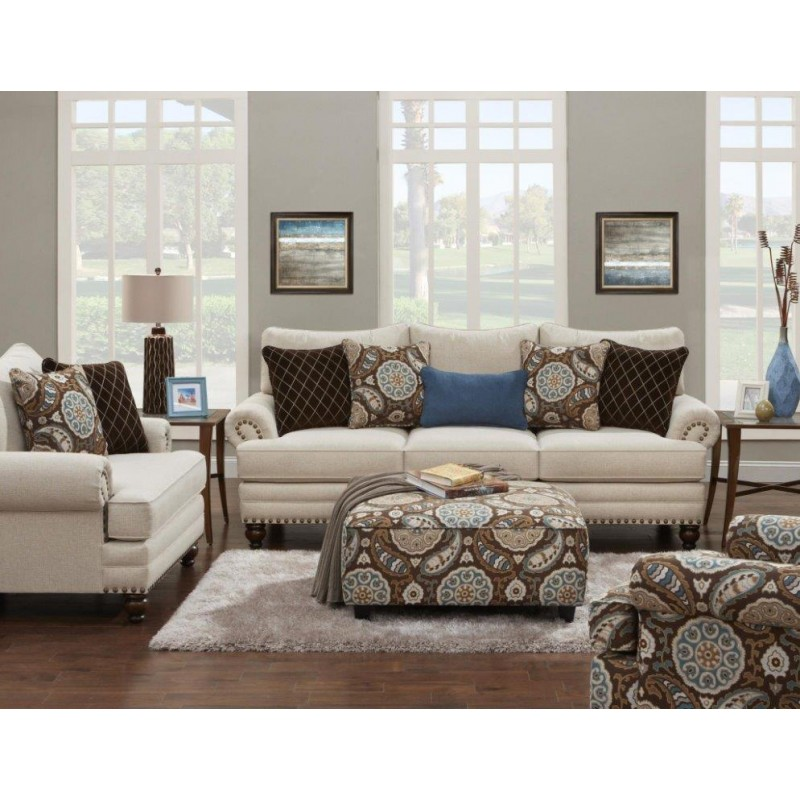 Anna white linen sofa collection grubbs furniture and for White linen sectional sofa