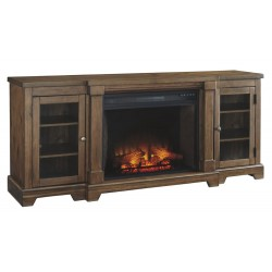 "Flynnter 75"" TV Stand w/Fireplace"